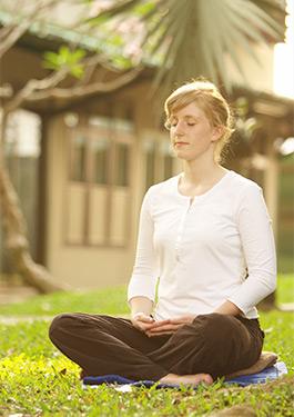 Meditating Woman Self Hypnosis
