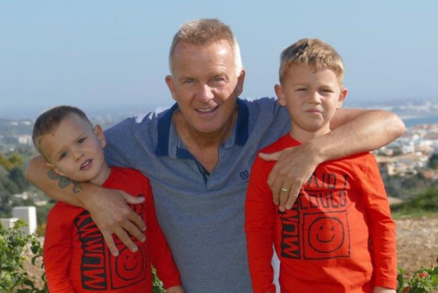 Glenn and his sons Eden and Noah