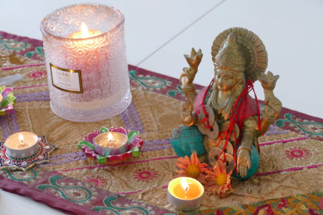 Nicola's Altar; honouring Lakshmi; Goddess of Wealth, Prosperity and Abundance